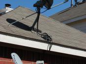 English: Residential satellite TV dish receivers.