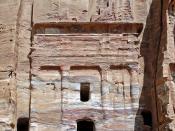 English: The Silk Tomb, Petra, Jordan Français : Le tombeau de soie ou tombeau moiré, Pétra, Jordanie Deutsch: Jordanien, Petra, Seidengrab