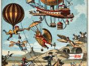 Utopian flying machines, France, 1890-1900 (chromolithograph trading card).
