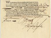 A bond from the Dutch East India Company, dating from 7 November 1623, for the amount of 2,400 florins.