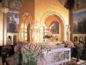 English: Saint Rita's tomb at Cascia basilica.