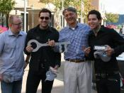 Picture I took of the band MxPx recieving the key to the City of Bremerton from Mayor Cary Bozeman.