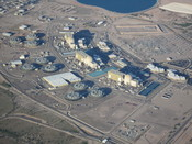 English: Aerial view of the Palo Verde nuclear generating station in Arizona