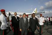 The President of Brazil, Mr. Luiz Inacio Lula da Silva on his official trip to Guyana. O Presidente do Brasil, Sr. Luiz Inácio Lula da Silva em visita oficial à Guiana.