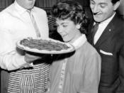 Publicity photo of guest stars singer Frankie Laine, Annette Funicello and Danny Thomas from the television program The Danny Thomas Show.