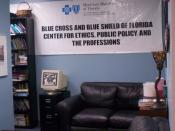 English: Lobby area for the Blue Cross and Blue Shield Center for Ethics, Public Policy and the Professions. This is located in Building 10, in the Philosophy Department at UNF in Jacksonville, Florida.