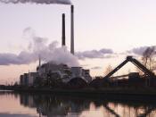 Coal power plant in Datteln (Germany) at the Dortmund-Ems-Kanal