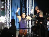 Matt Hardy making his way to the ring