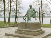 Statue of Votkinsk's most famous resident, Tchaikovsky.